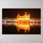 Golden Temple Amritsar North India at Night Print