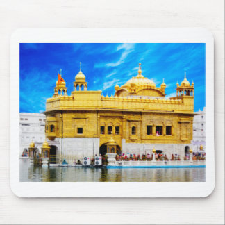 GOLDEN TEMPLE BLUE SKY BACKGROUND AMRITSAR MOUSE PAD