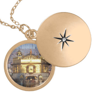 GOLDEN TEMPLE LOCKET NECKLACE