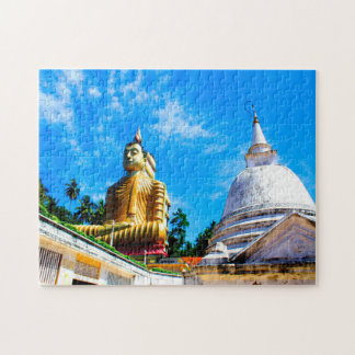 Golden Temple Sri Lanka. Jigsaw Puzzle