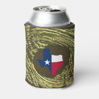 GOLDEN TEXAN CAN COOLER