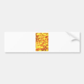 Golden texture bumper sticker