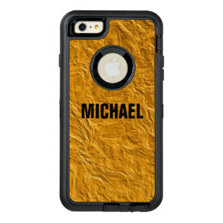 Golden texture OtterBox defender iPhone case