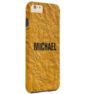 Golden texture tough iPhone 6 plus case