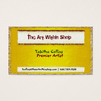 Golden Textured Art Inspired Business Card