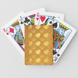 Golden Thanksgiving with Turkey Bicycle Playing Cards