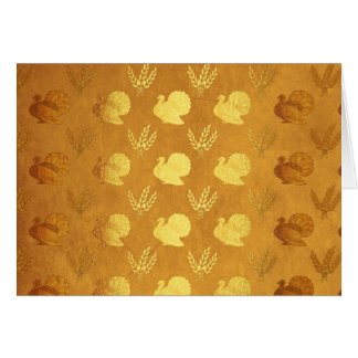 Golden Thanksgiving with Turkey Card