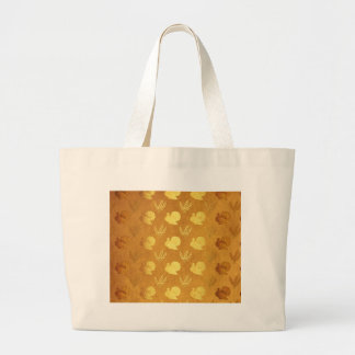 Golden Thanksgiving with Turkey Large Tote Bag