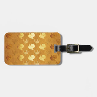 Golden Thanksgiving with Turkey Luggage Tag