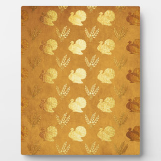Golden Thanksgiving with Turkey Plaque
