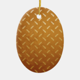 Golden Thanksgiving with Wheat Seed Heads Ceramic Ornament