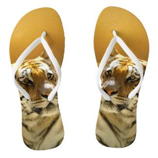 Golden Tiger Flip Flops