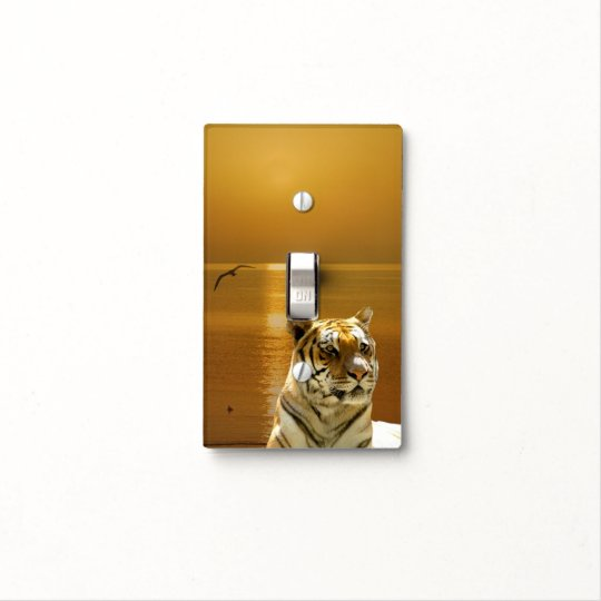 Golden Tiger Light Switch Cover