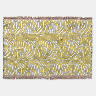 Golden Tiger Luxurious Animal Print Throw Blanket