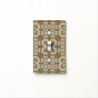 Golden tile orient pattern light switch cover