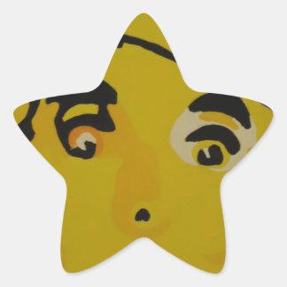 Golden Tin Man Star Sticker