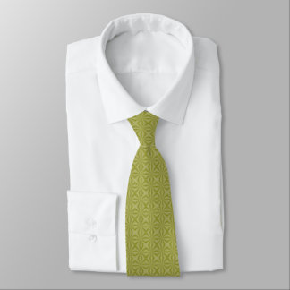 Golden Tinfoil Squiggly Squares Tie