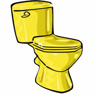 Golden Toilet Sculpture Ornament Photo Sculpture Ornament