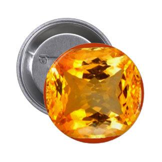 Golden Topaz Gem Design by Sharles 2 Inch Round Button