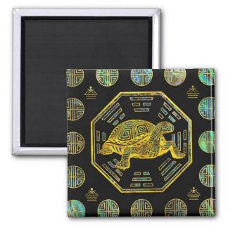 Golden Tortoise / Turtle Feng Shui Abalone Shell Magnet