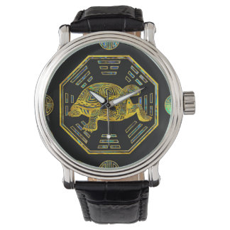 Golden Tortoise / Turtle Feng Shui Abalone Shell Watch