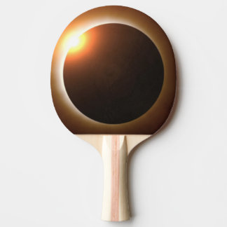 Golden Total Solar Eclipse Ping Pong Paddle