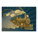 Golden Train Greeting Card