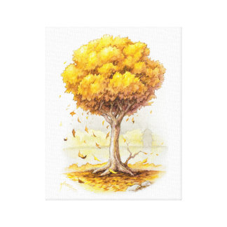 Golden Tranquility Canvas Print