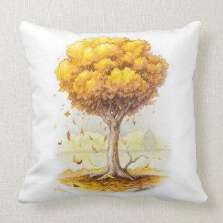 Golden Tranquility Throw Pillow