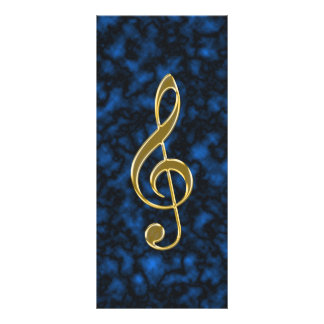 Golden treble clef rack card