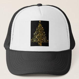 Golden tree design trucker hat