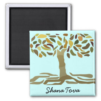 Golden Tree of Life Square Magnet