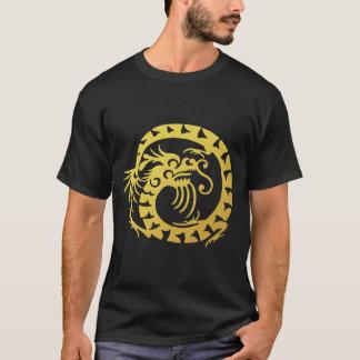 Golden Tribal Dragon T-Shirt