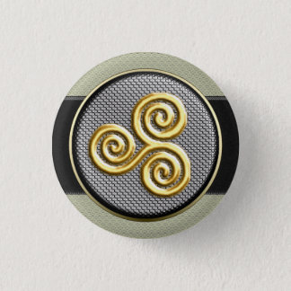 Golden Triskele 1 Inch Round Button