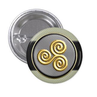 Golden Triskele 1 Inch Round Button
