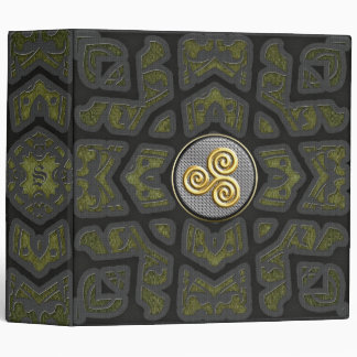 "Golden Triskele Monogram 2"" Binder"