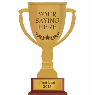 Golden Trophy Award Photo Sculpture