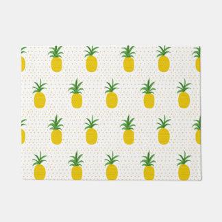 Golden Tropical Pineapples Doormat
