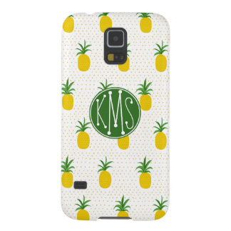 Golden Tropical Pineapples | Monogram Case For Galaxy S5