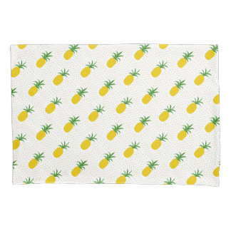 Golden Tropical Pineapples Pillowcase