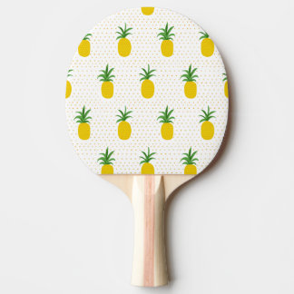 Golden Tropical Pineapples Ping-Pong Paddle