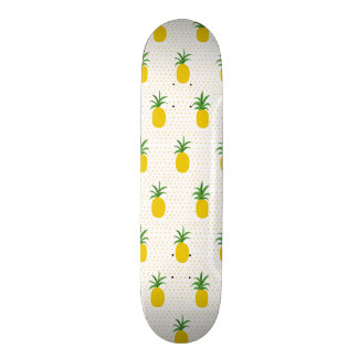 Golden Tropical Pineapples Skateboards