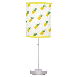 Golden Tropical Pineapples Table Lamp