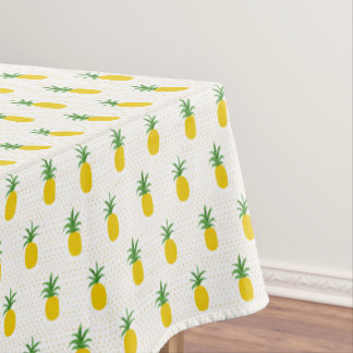 Golden Tropical Pineapples Tablecloth