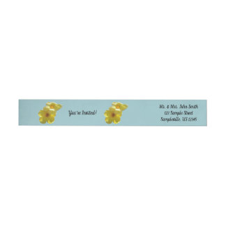 Golden Trumpet Flowers I Wrap Around Label