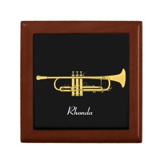 Golden Trumpet Music Theme Gift Box