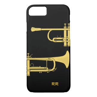 Golden Trumpet Music Theme iPhone 7 Case
