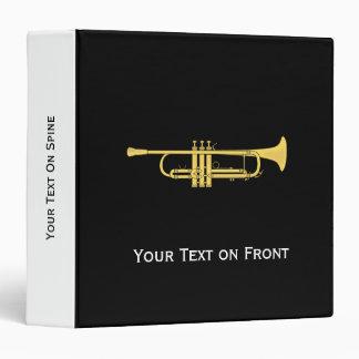 Golden Trumpet Music Theme Vinyl Binders