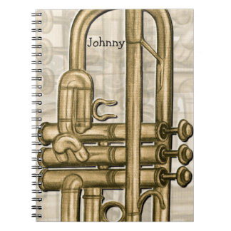 Golden Trumpet Personalized Notebook