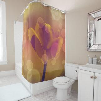 Golden Tulip in Bubbles Shower Curtain